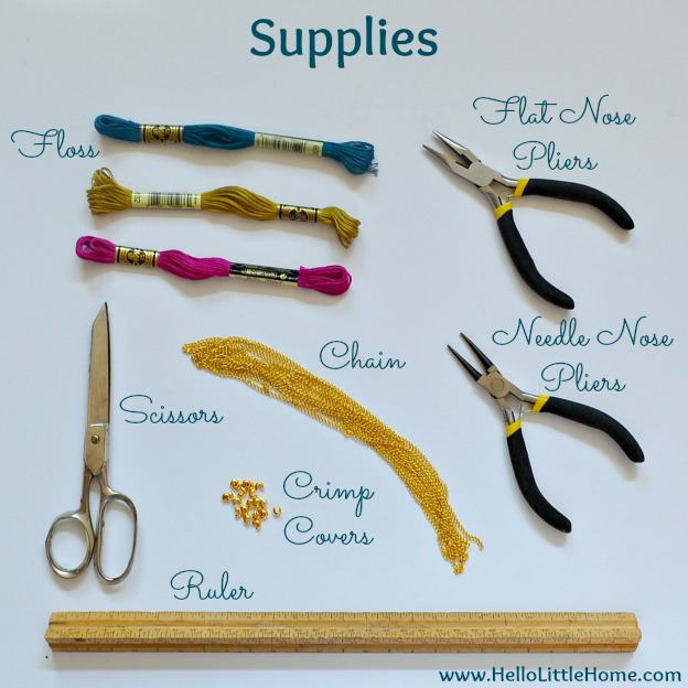 DIY Shashi Necklace Supplies