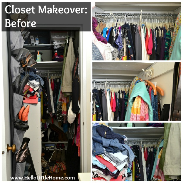 Bedroom Closet Makeover: Before