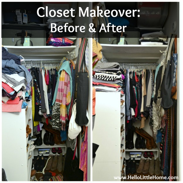 Bedroom Closet Makeover Before After