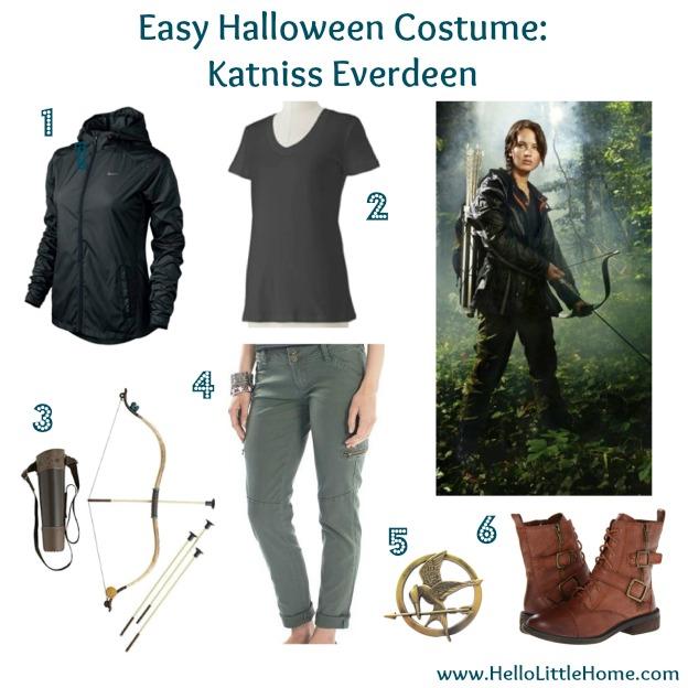 Easy Halloween Costume Katniss Everdeen  sc 1 st  Hello Little Home & Itu0027s Not Too Late: 4 Easy Halloween Costumes!