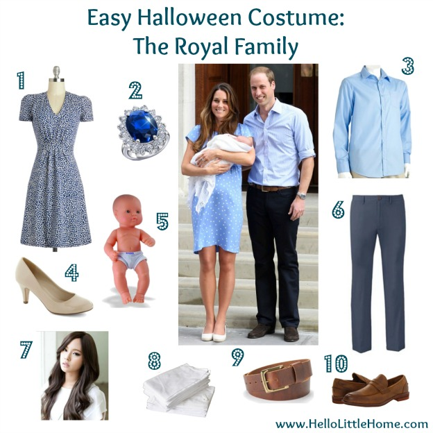 Easy Halloween Costume: The Royal Family
