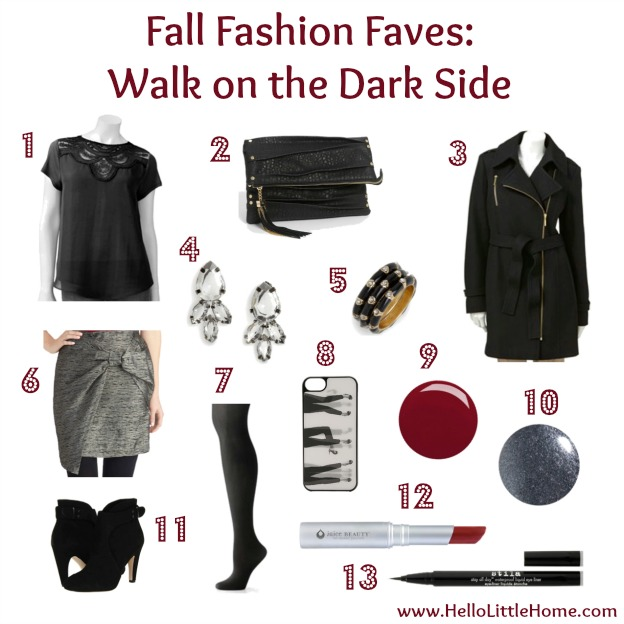 Fall Fashion Faves: Walk on the Dark Side
