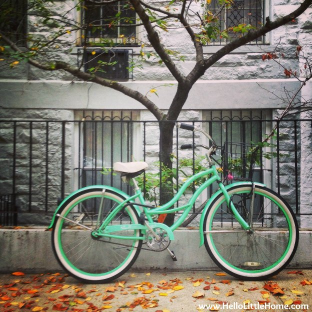 Mint green Bike.