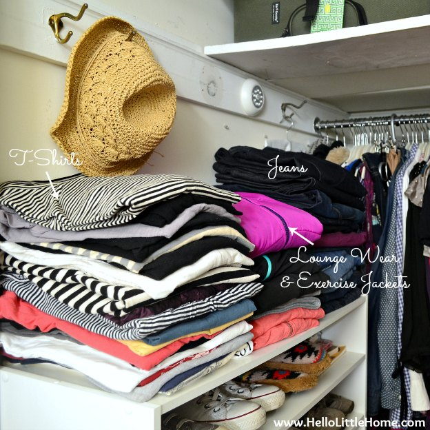 Organizing Clothes on Shelves