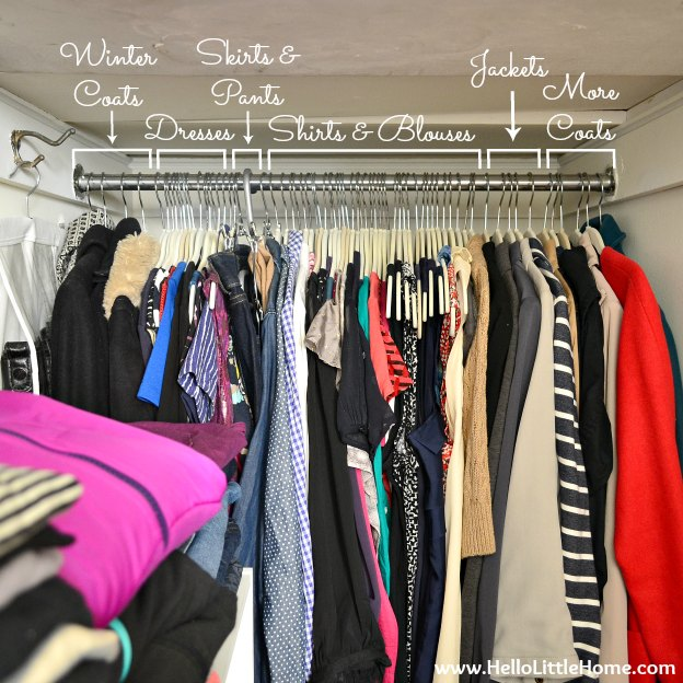 Organizing Hanging Clothes In Closet.