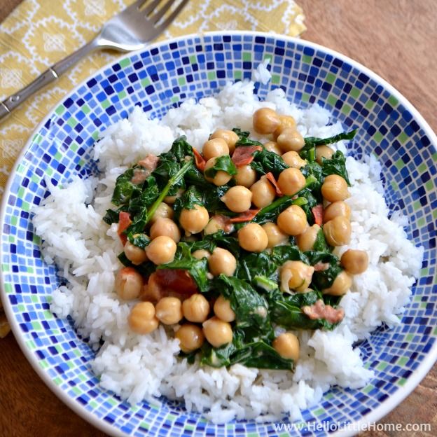 Quick Coconut Curry with Chickpeas and Spinach