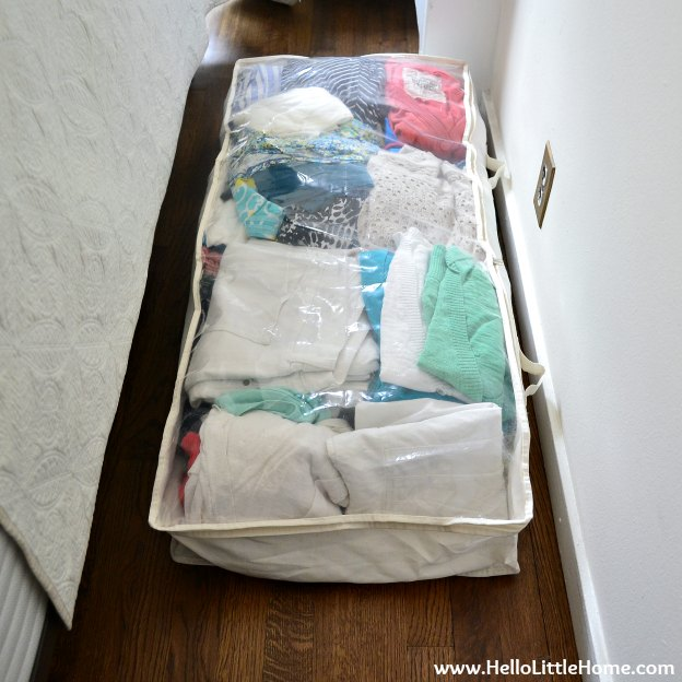 Closet Makeover: Storing Summer Clothes Under the Bed