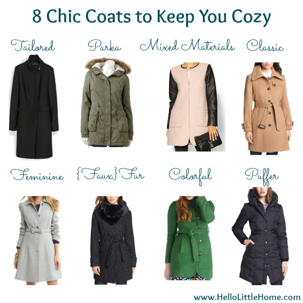 8 Chic Coats to Keep You Cozy This Fall / Winter