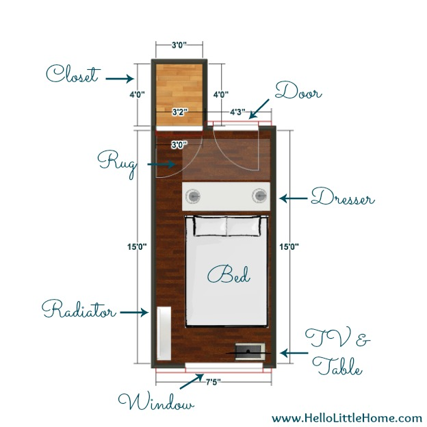 Peek into My Home: Bedroom Floor Plan