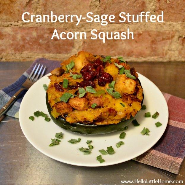 Cranberry-Sage Stuffed Acorn Squash