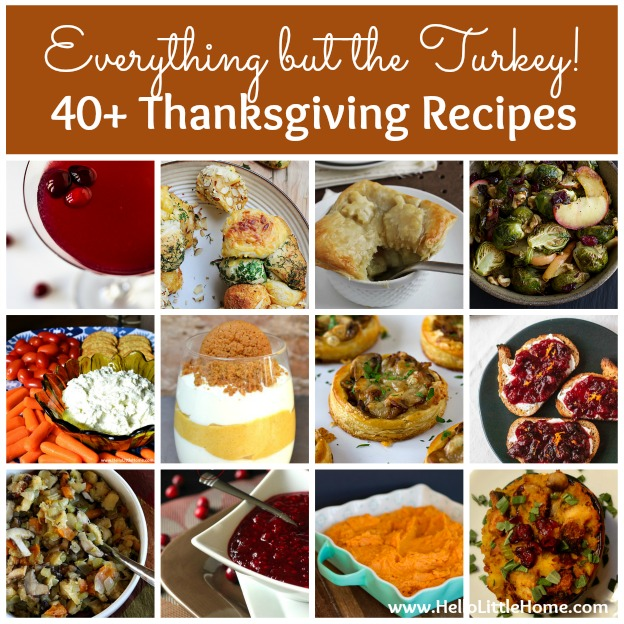 Everything but the Turkey! 40+ Thanksgiving Recipes