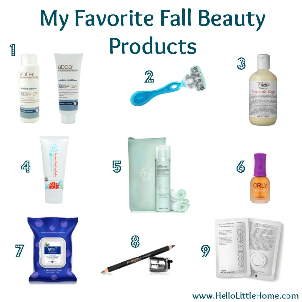 My Favorite Fall Beauty Products | Hello Little Home