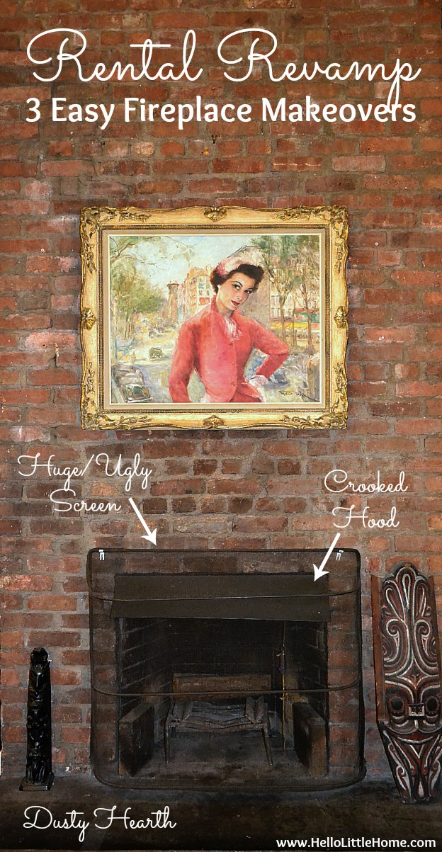 Rental Revamp: 3 Easy Fireplace Makeovers