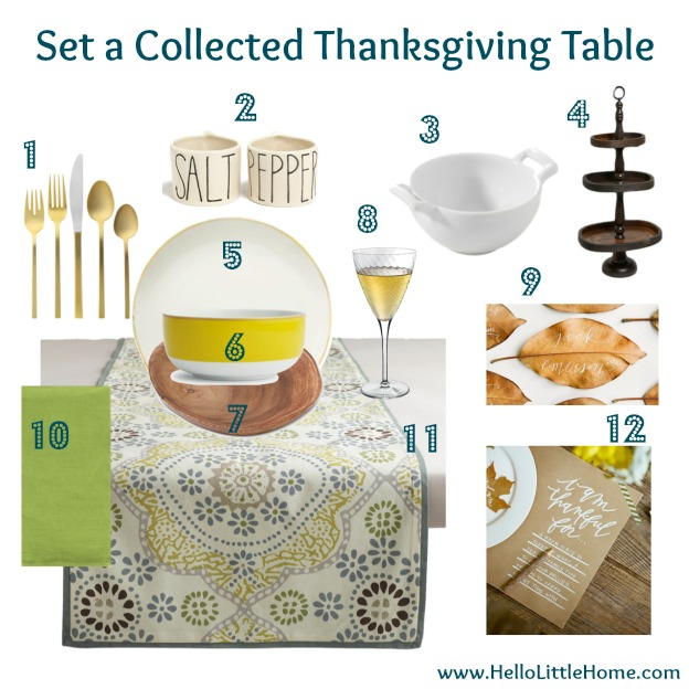 Set a Collected Thanksgiving Table