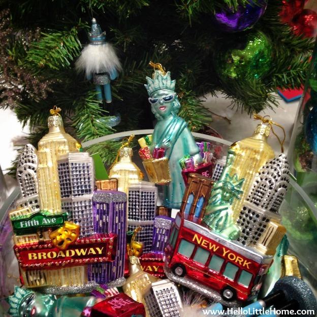 C Wonder NYC Christmas Ornaments