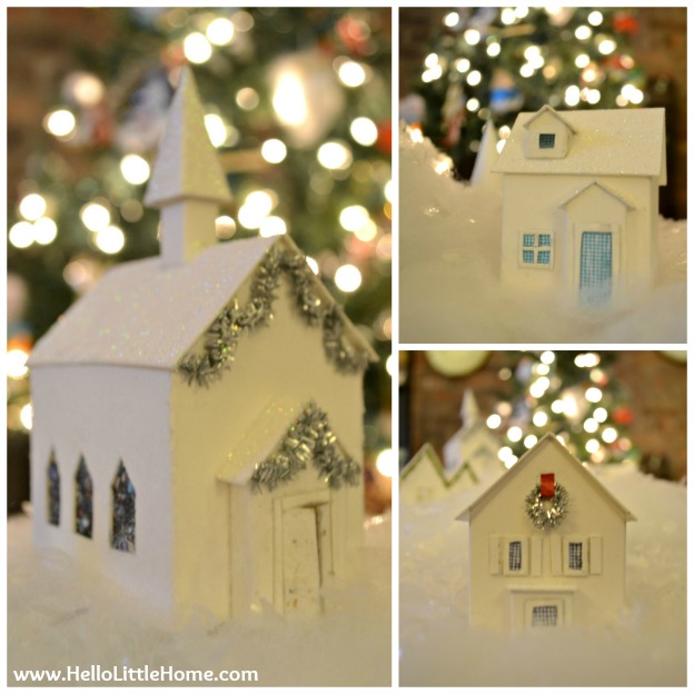 Holiday Apartment Tour: Christmas Village with Bokeh | Hello Little Home