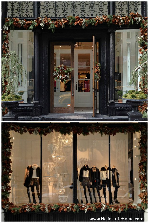 Club Monaco Holiday Windows | Hello Little Home