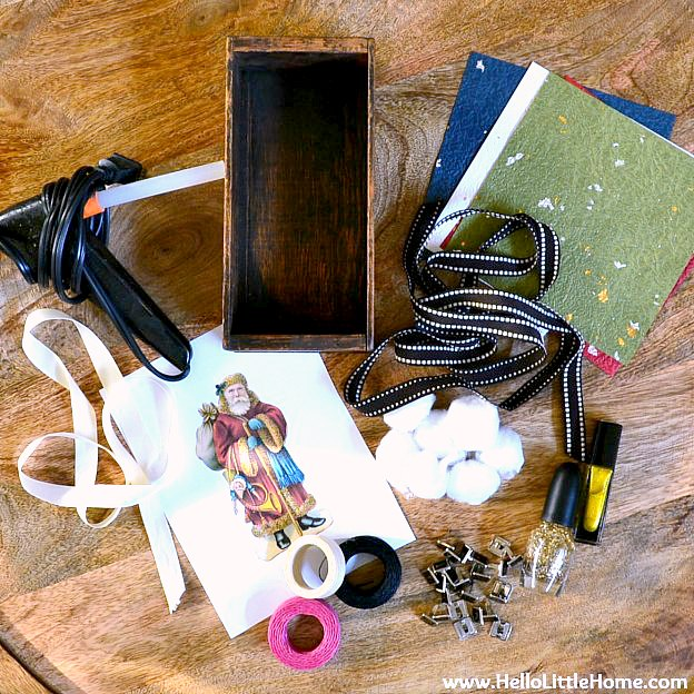 DIY Vintage Shadow Box Supplies