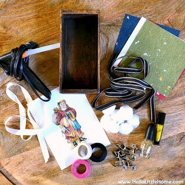 DIY Vintage Shadow Box Supplies