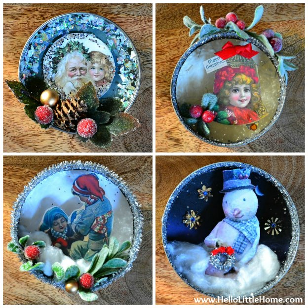 DIY Shadow Box Ornaments
