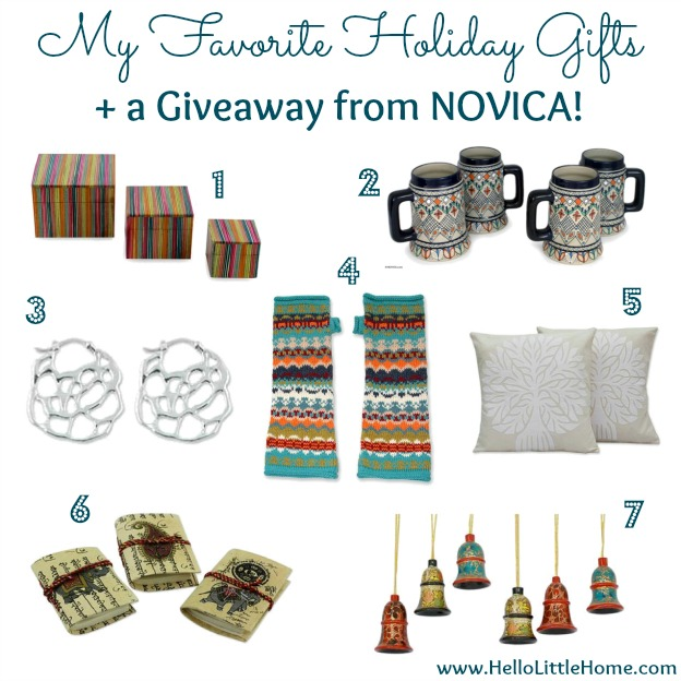 My Favorite Gifts + a Giveaway from NOVICA | Hello Little Home