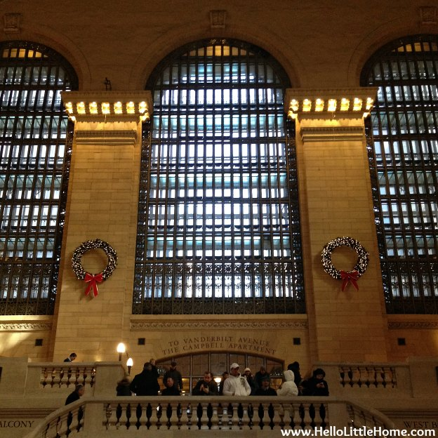 Grand Central Station Holiday Decorations | Hello Little Home