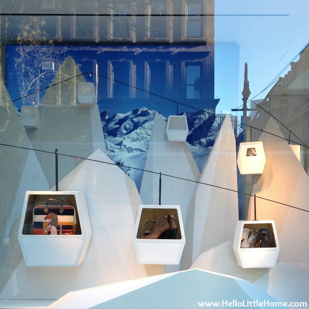Hermes Holiday Window | Hello Little Home