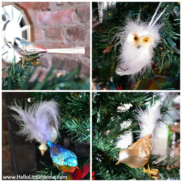 Holiday Apartment Tour: Bird Christmas Ornaments | Hello Little Home