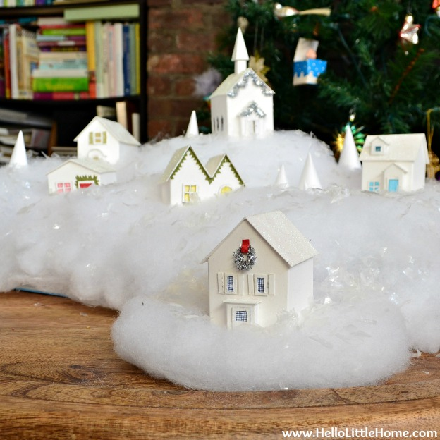 Holiday Apartment Tour: Christmas Village | Hello Little Home
