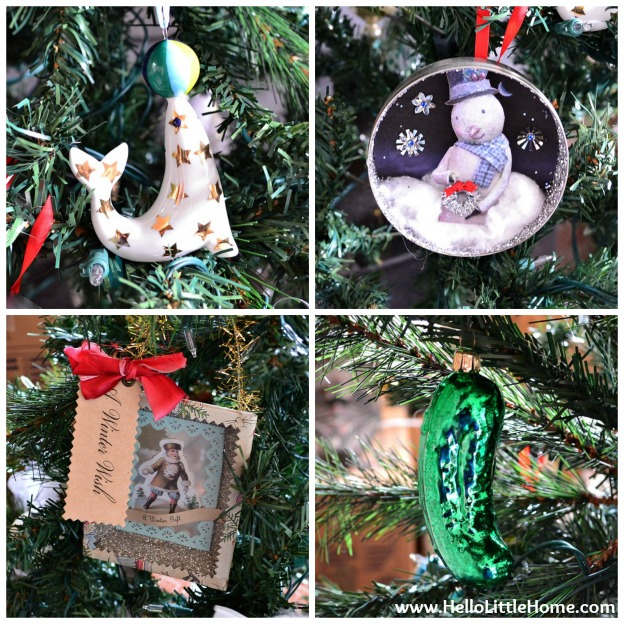 Holiday Apartment Tour: Favorite Christmas Ornaments | Hello Little Home