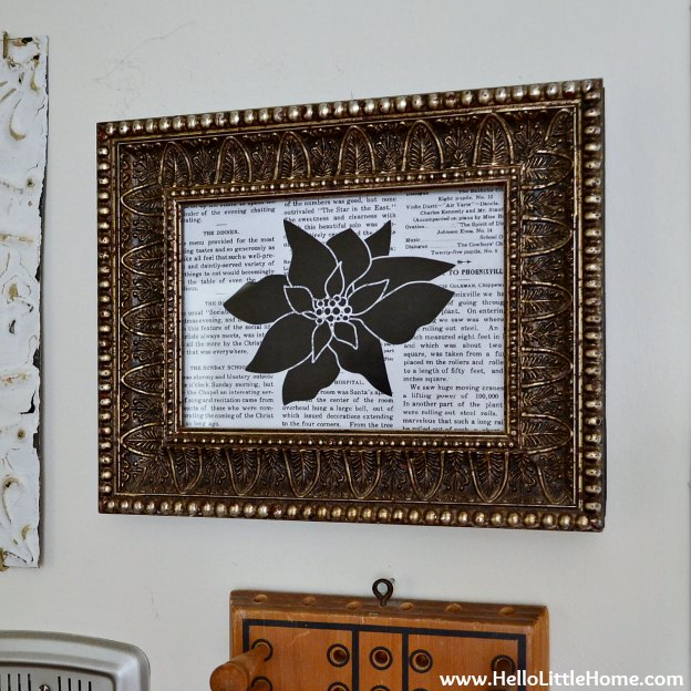 Holiday Apartment Tour: DIY Holiday Art | Hello Little Home