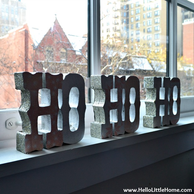 "Holiday Apartment Tour: ""Ho Ho Ho"" Sign 