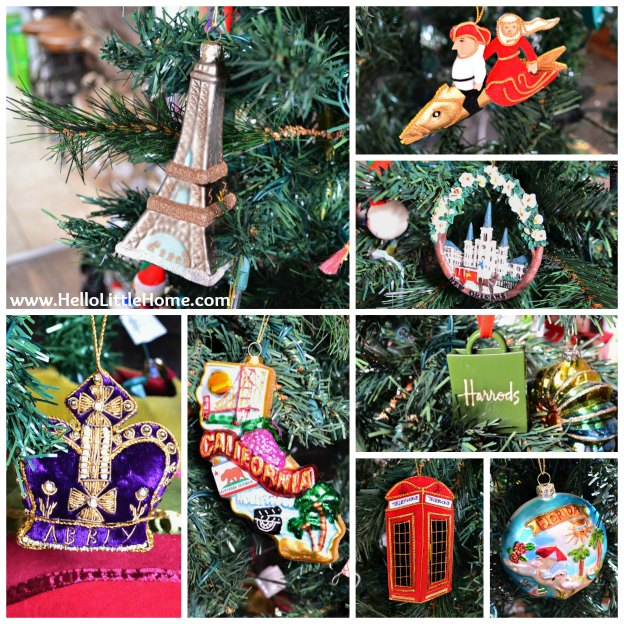 Holiday Apartment Tour: Christmas Ornaments from My Travels | Hello Little Home
