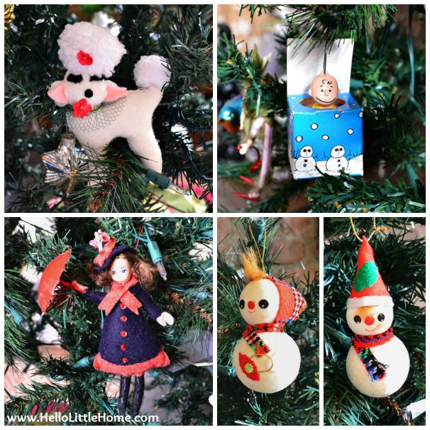Holiday Apartment Tour: Vintage Christmas Ornaments | Hello Little Home