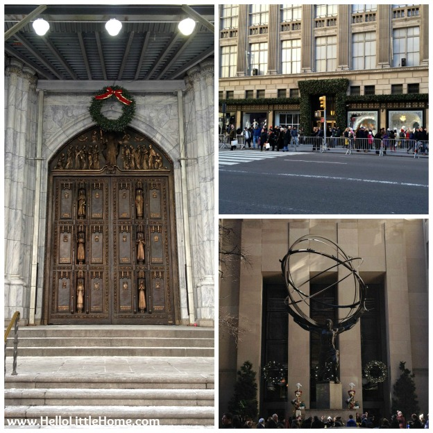 NYC Holiday Decorations: St. Patrick's Cathedral, Saks, and Rockefeller Center | Hello Little Home