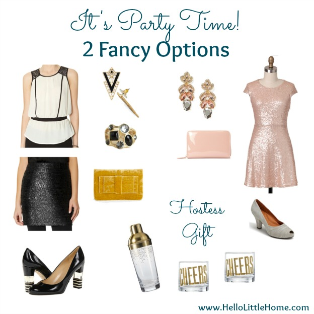 It's Party Time! 2 Fancy Holiday Party Outfits | Hello Little Home