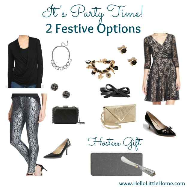 It's Party Time! 2 Festive Holiday Party Outfits | Hello Little Home
