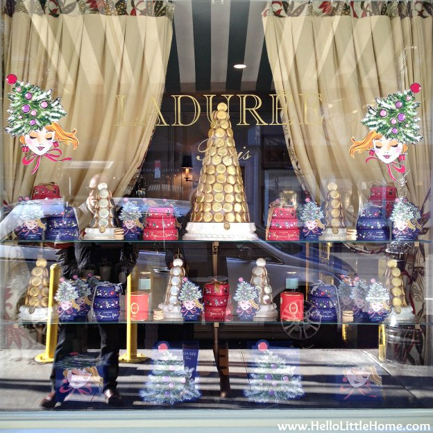 Laduree Holiday Windows | Hello Little Home