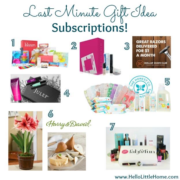 Last Minute Gift Idea: Subscription | Hello Little Home