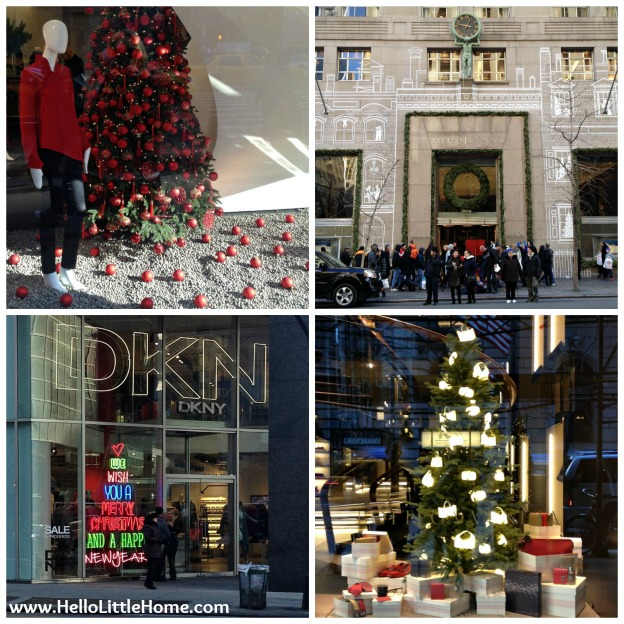 NYC Holiday Windows | Hello Little Home