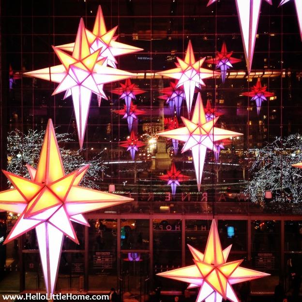 Pretty Holiday Decorations at The Shops at Columbus Circle