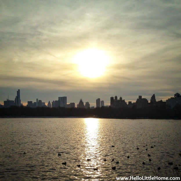Sunset over Central Park Reservoir | Hello Little Home