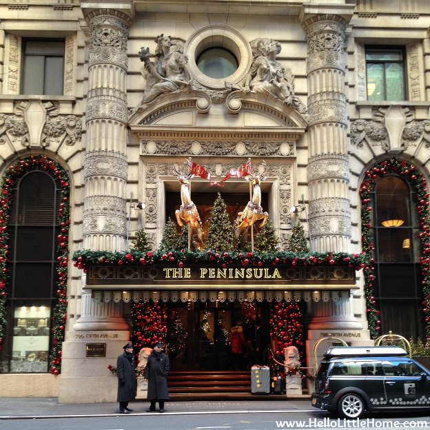 The Peninsula Holiday Decorations | Hello Little Home