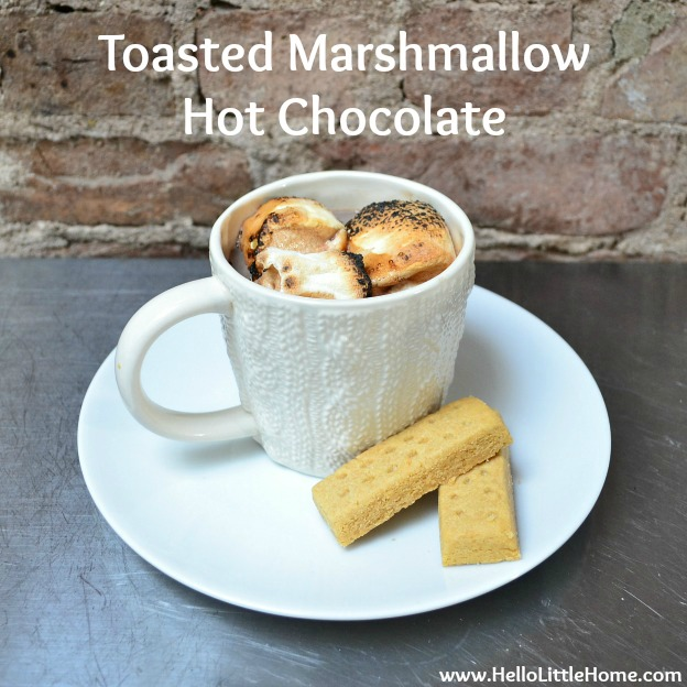 Toasted Marshmallow Hot Chocolate | Hello Little Home