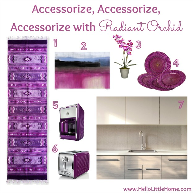 Tips for Decorating with Radiant Orchid: Accessorize | Hello Little Home