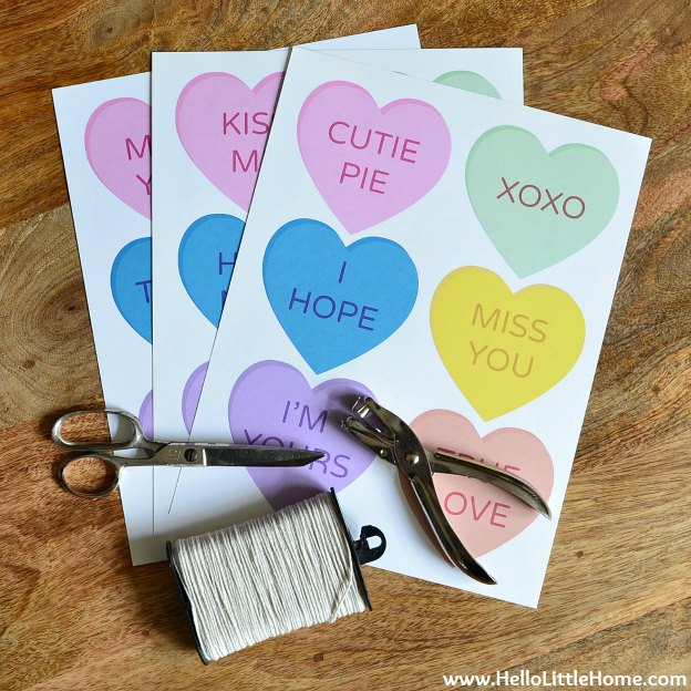 Conversation Heart Banner Supplies | Hello Little Home