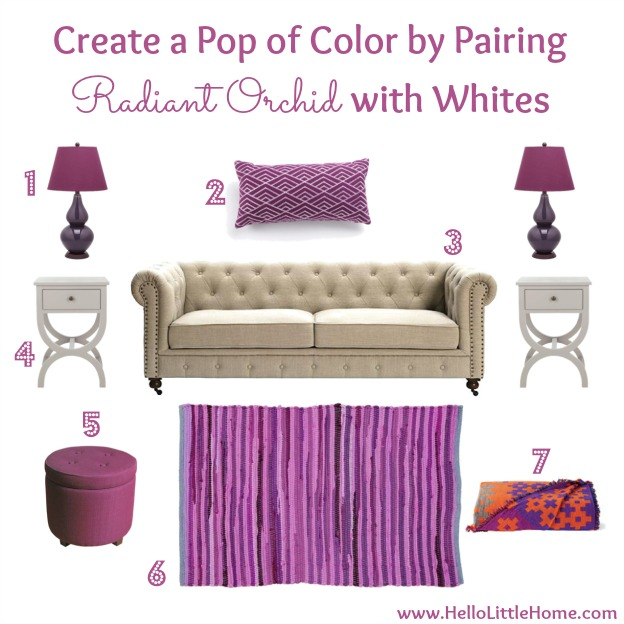 Tips for Decorating with Radiant Orchid: Create a Pop of Color | Hello Little Home