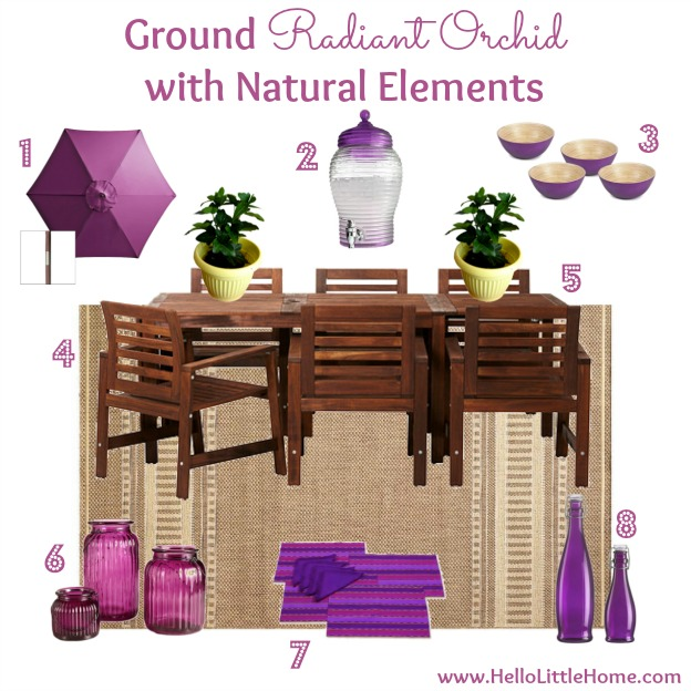 Tips for Decorating with Radiant Orchid: Ground with Natural Elements | Hello Little Home