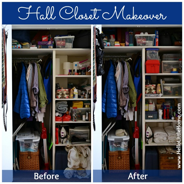 Hall Closet Makeover: Before and After | Hello Little Home