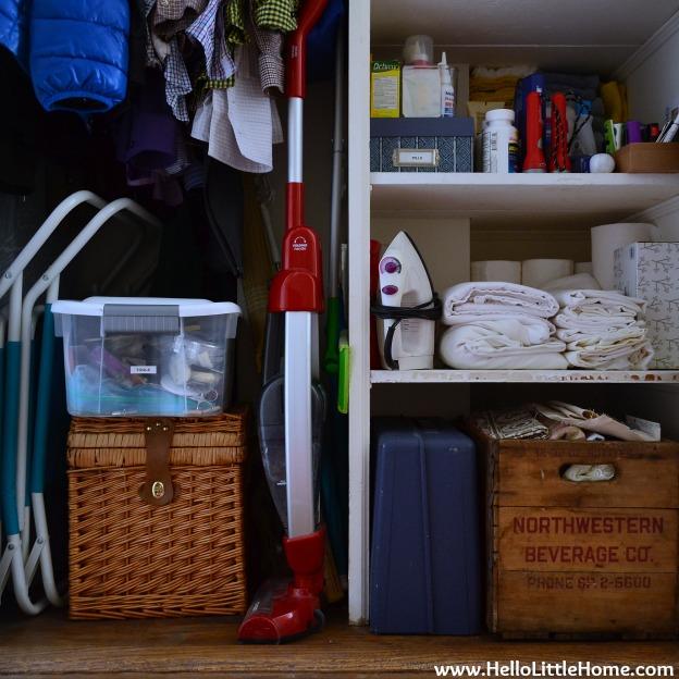 Hall Closet Makeover: Lower Half | Hello Little Home